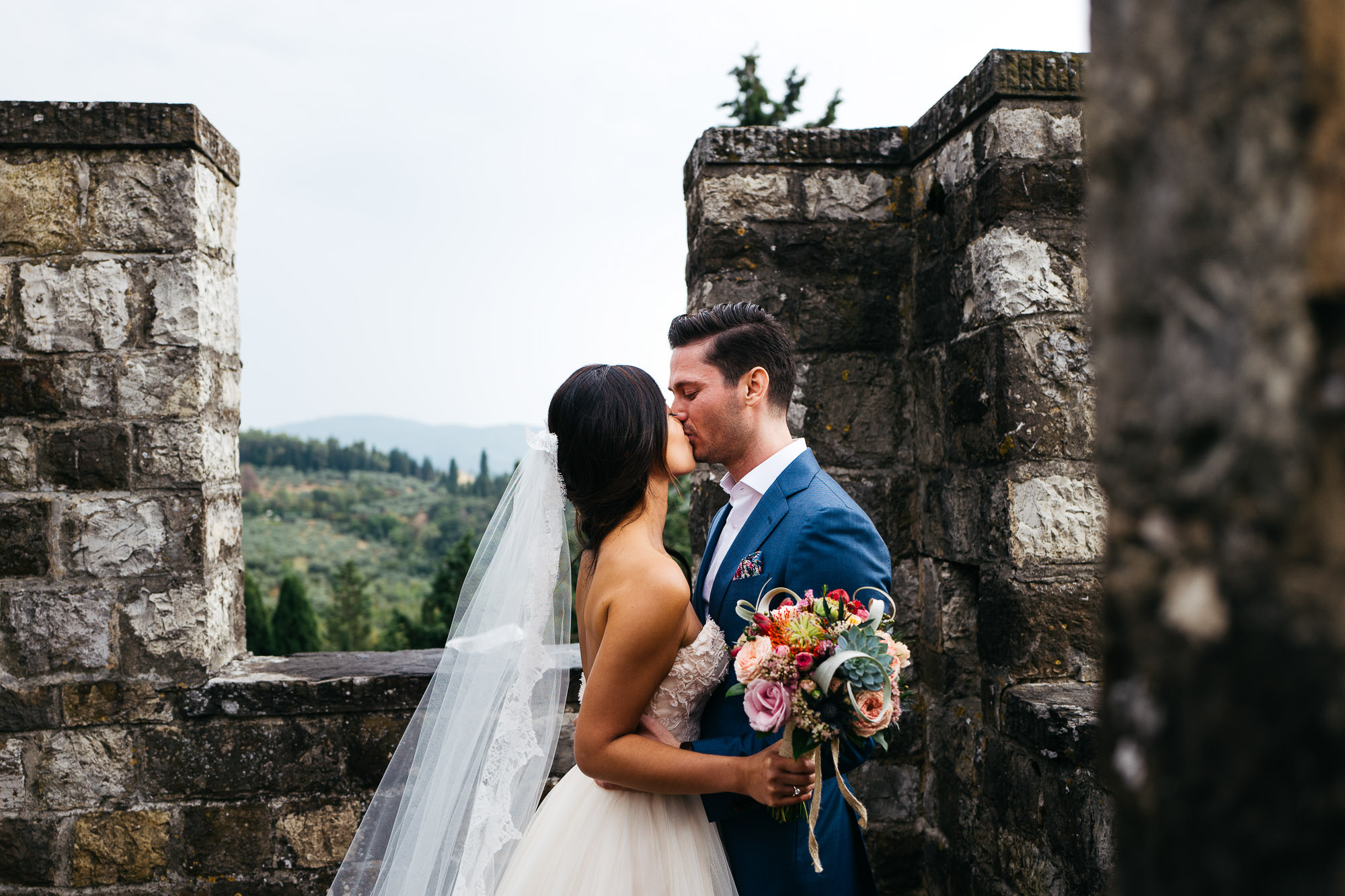 Alex + Julia Wedding Vincigliata Castle 48