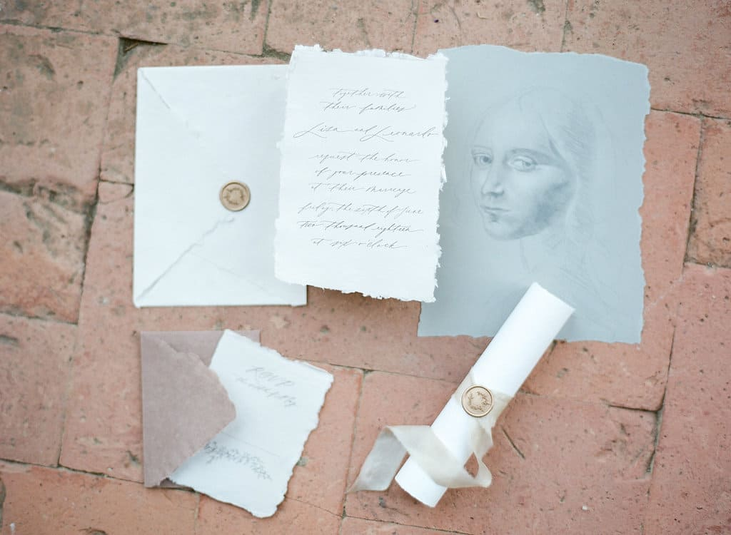 Italian Renaissance Wedding invitation